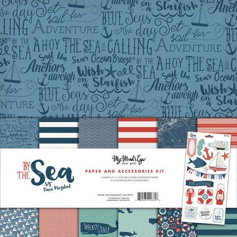 """KIT -набор двусторонней бумаги  30 х30 см из коллекции BY THE SEA от My Mind""""s Eye"""