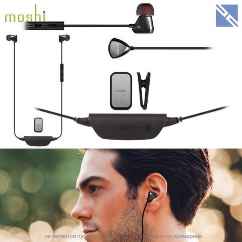 Наушники Moshi Vortex Air bluetooth черная сталь с микрофоном