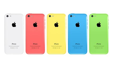 Корпус, крышка, задняя часть iPhone 5C (белый/красный/синий/желтый/зеленый)