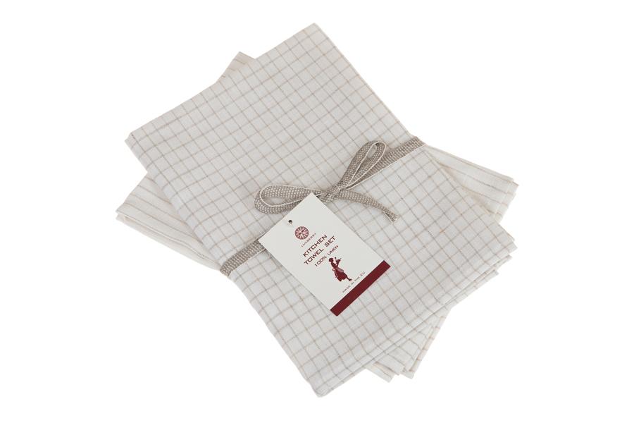 Набор полотенец 2 шт Luxberry Timeless mini белый/натуральный