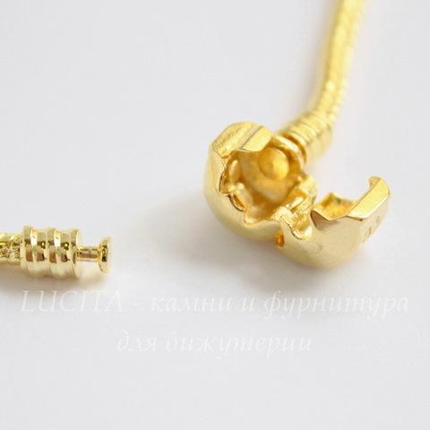 "Основа для браслета ""Пандора"" с замком-защелкой, 19 cм (цвет - золото)"