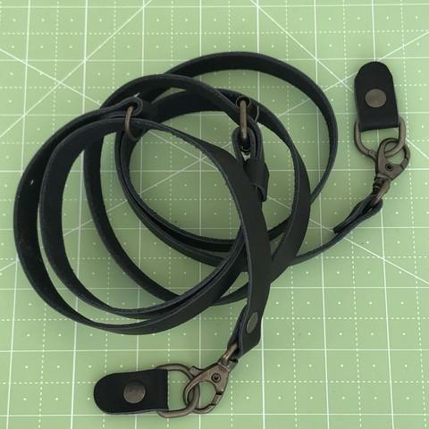Ремень для сумки  натуральная кожа (черный)