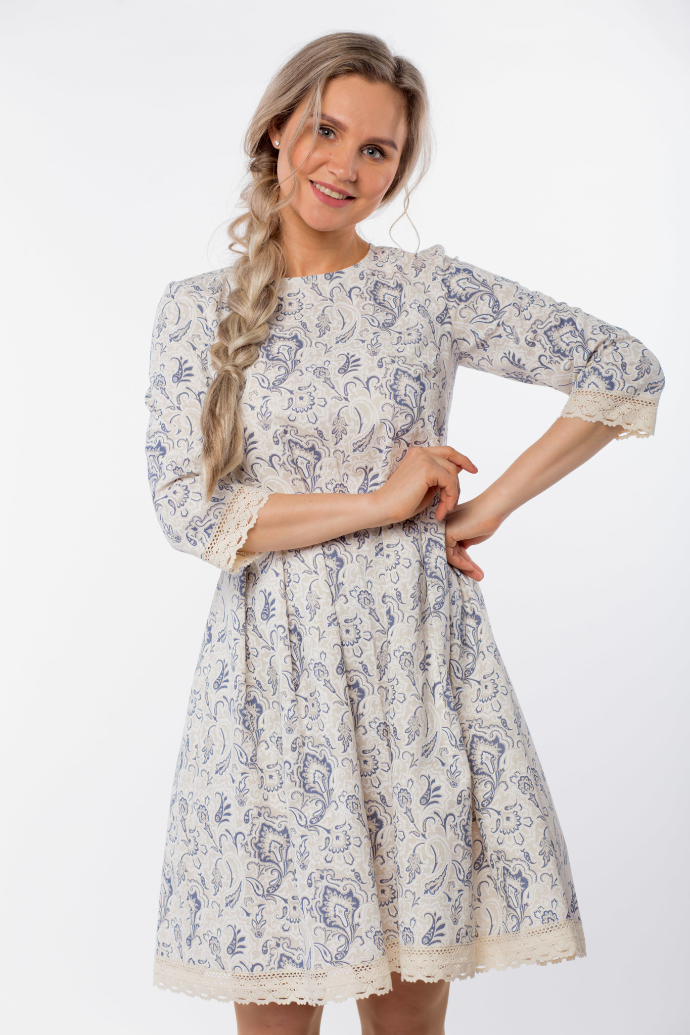 Платье льняное Первоцвет приближенный фрагмент