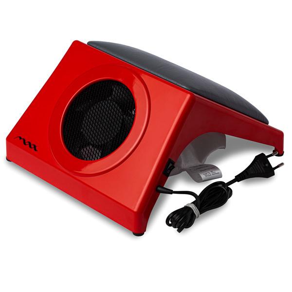 Настольная вытяжка для маникюра MAX Storm 4 Красный (32Вт max), с подушкой GREY фото