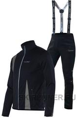 Утеплённый лыжный костюм Nordski Active Black-Grey Premium Black мужской