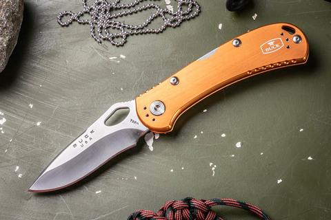 Складной нож Spitfire 722 B0722GRS1-B, оранжевая рукоять