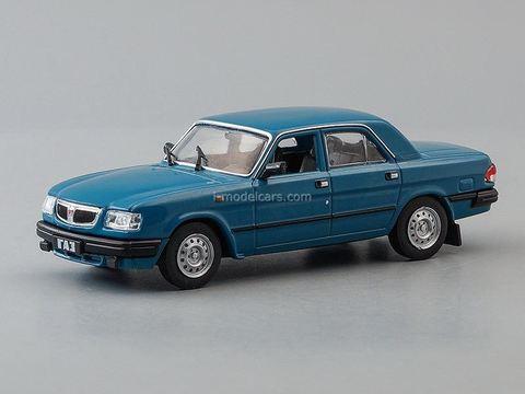 GAZ-3110 Volga 1997-2004 aquamarine 1:43 DeAgostini Auto Legends USSR #257