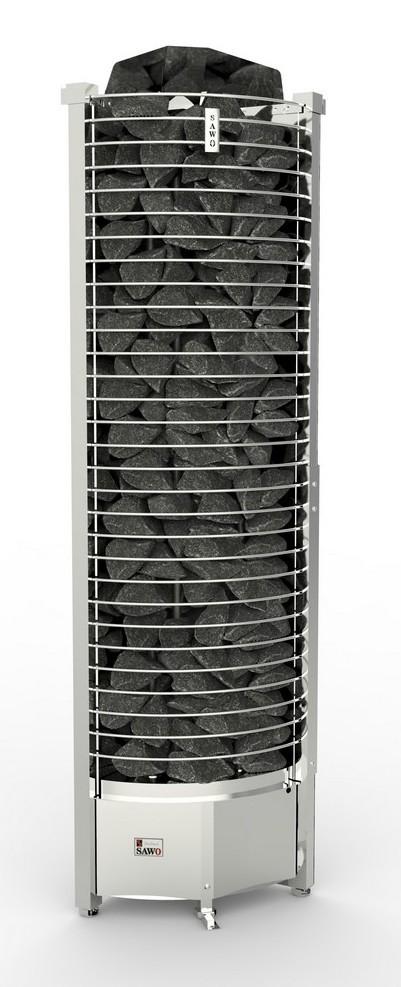 Серия Tower: Электрическая печь SAWO TOWER TH6-105NS-CNR-P (10,5 кВт, выносной пульт, угловая)