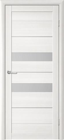 Дверь TrendDoors TDT-4, стекло белое матовое, цвет лиственница белая, остекленная