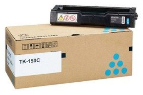 Kyocera TK-150C - Тонер-картридж для принтеров Kyocera FS-C1020MFP, FS-C1020MFP+. Ресурс 6000 страниц.