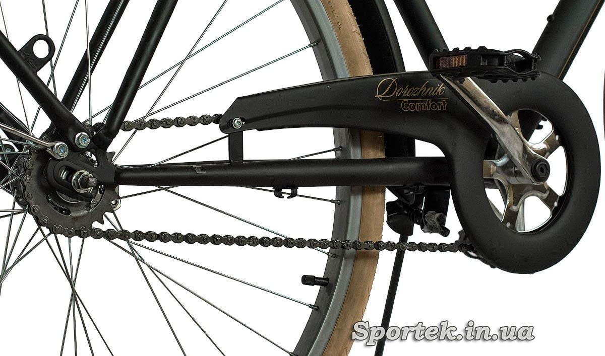 Трансмиссия городского мужского велосипеда Dorozhnik Comfort Male 2016 (Дорожник комфорт)
