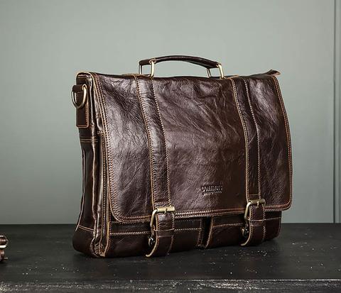 Стильный мужской портфель из гладкой кожи