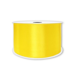 Лента атласная Желтый, 7 мм * 22,85 м