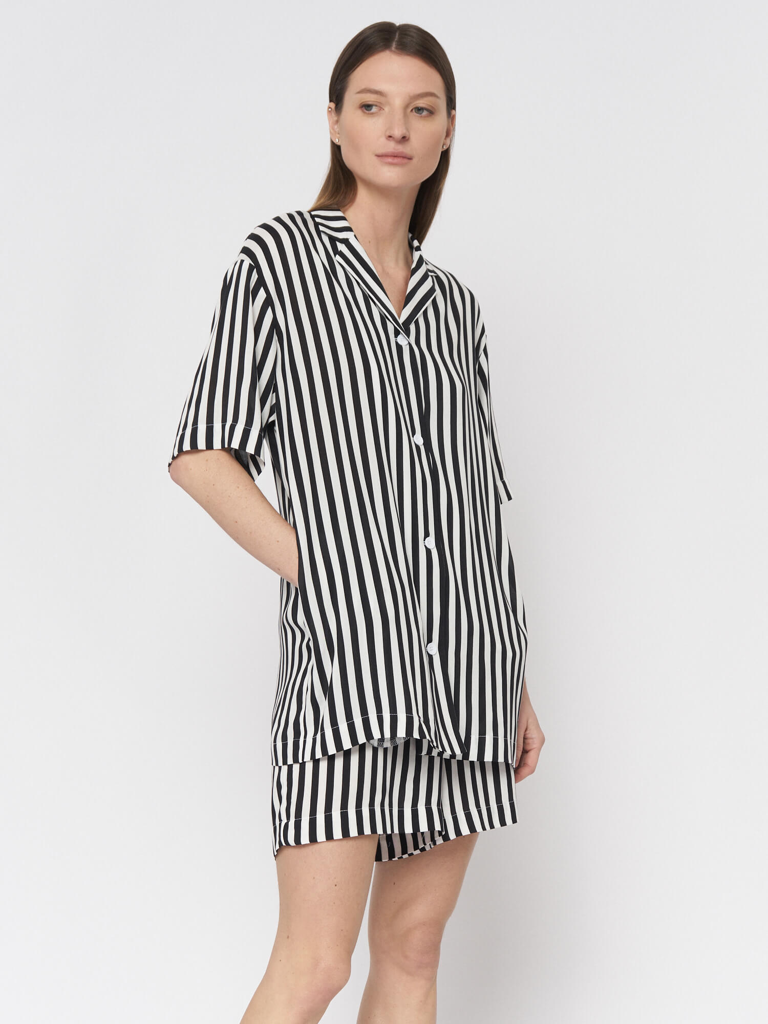 Рубашка в полоску Lexi в пижамном стиле