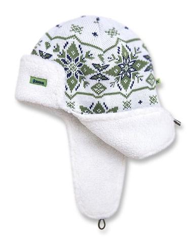 шапка-ушанка Kama A67 Off-White