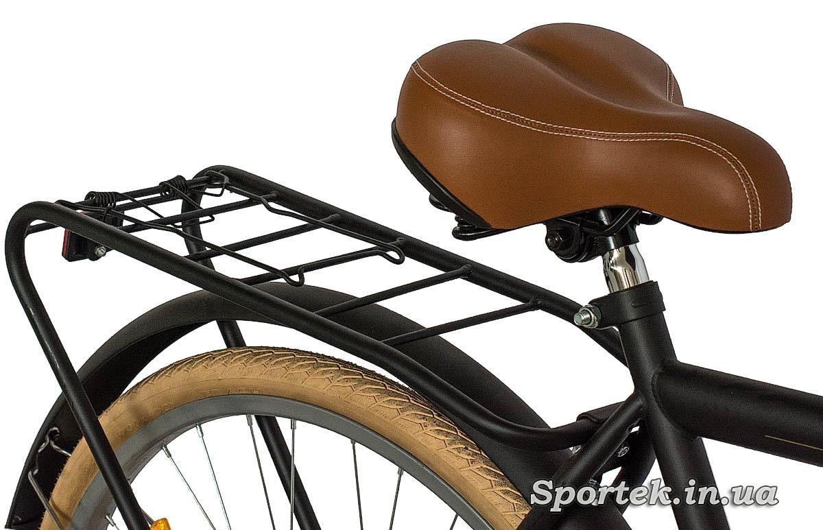 Седло и багажник  городского мужского велосипеда Dorozhnik Comfort Male 2016 (Дорожник комфорт)