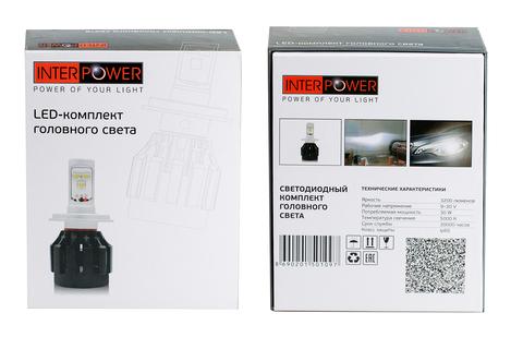 Комплект LED ламп головного света Interpower H7 CREE RADIATOR