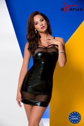 Короткое эротическое платье черного цвета