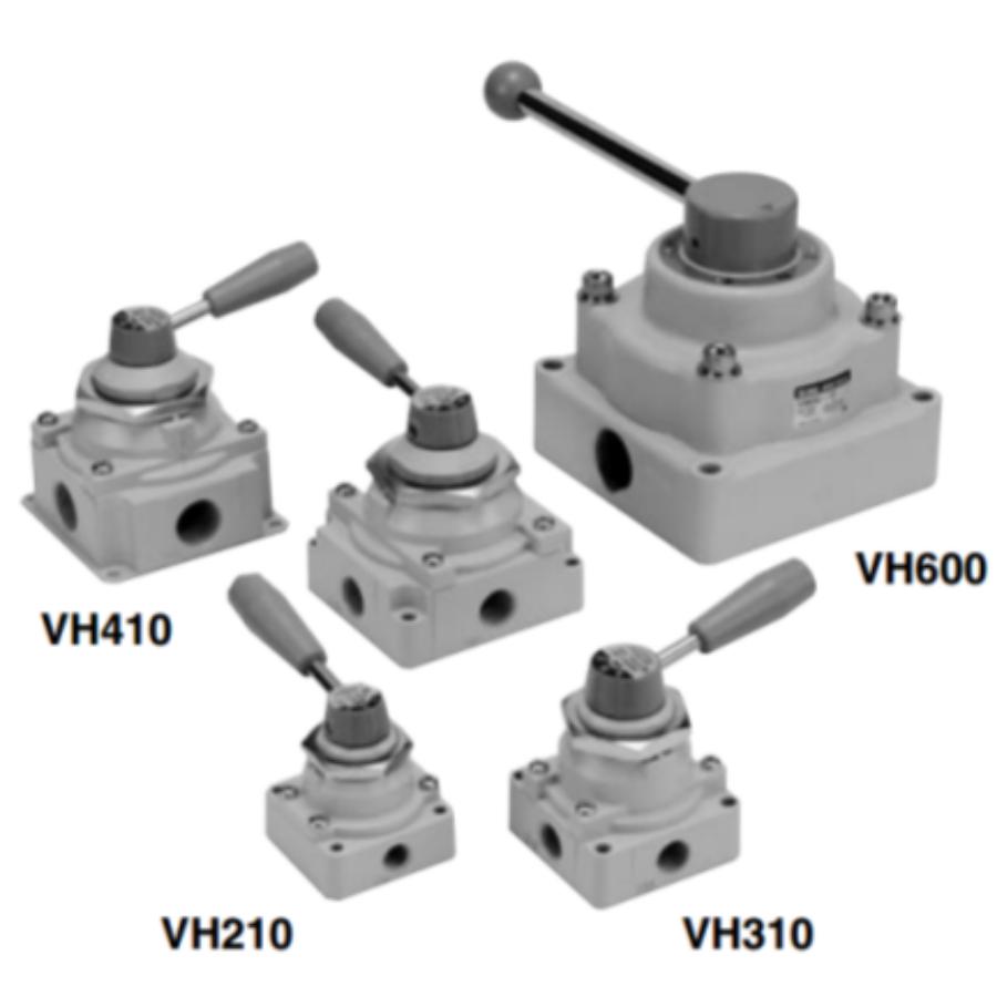 VH210-F02  4/3-Пневмораспределитель с ручным управлением