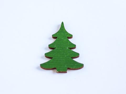 Декор дерев'яний - зелена ялинка