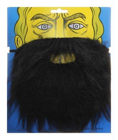 Карнавальная борода черная