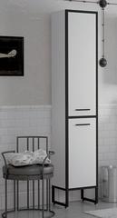 Шкаф-пенал Corozo Айрон 35, черный/белый