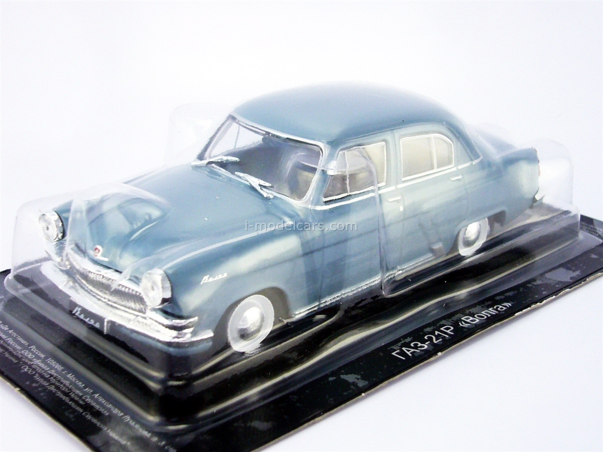 GAZ-21 Volga gray-blue 1:43 DeAgostini Auto Legends USSR #208