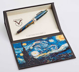 Visconti Van Gogh синяя смола, отделка хром 18гр (VS-786-18)
