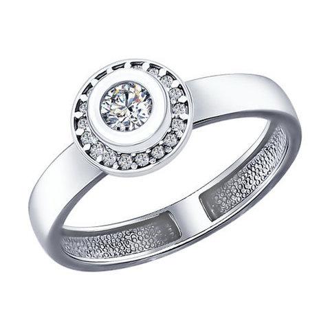 Кольцо из серебра с фианитами арт.94011961