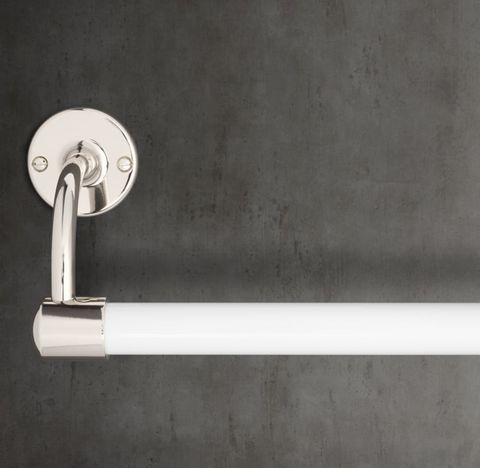1900 Classic Large Bore Towel Bar - White