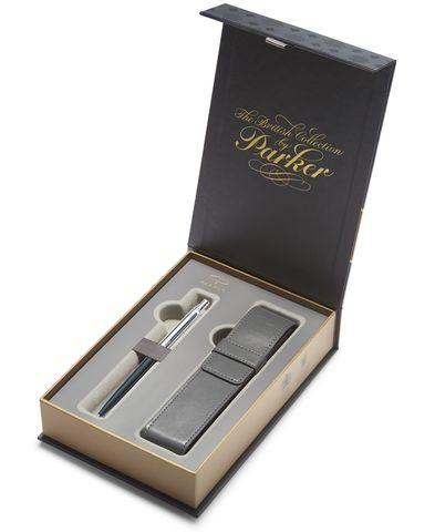 Подарочный набор: Чехол и Шариковая ручка Parker Jotter K60, цвет: Black123