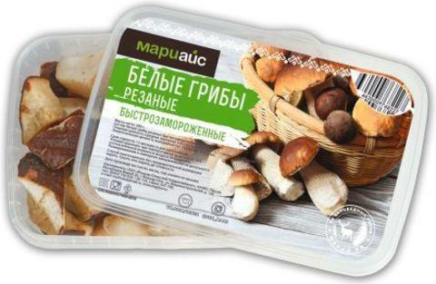 Белые грибы быстрозамороженные, МариАйс, 300г