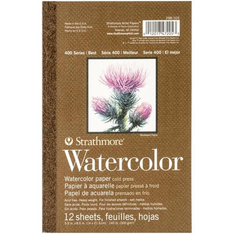 Блокнот для акварели Watercolor Paper cold press 14х21,6см  -12л.