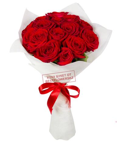 Букет из 15 красных роз (местные)