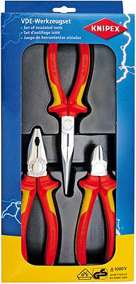 Набор инструментов электроизолированных VDE1000V Knipex KN-002012
