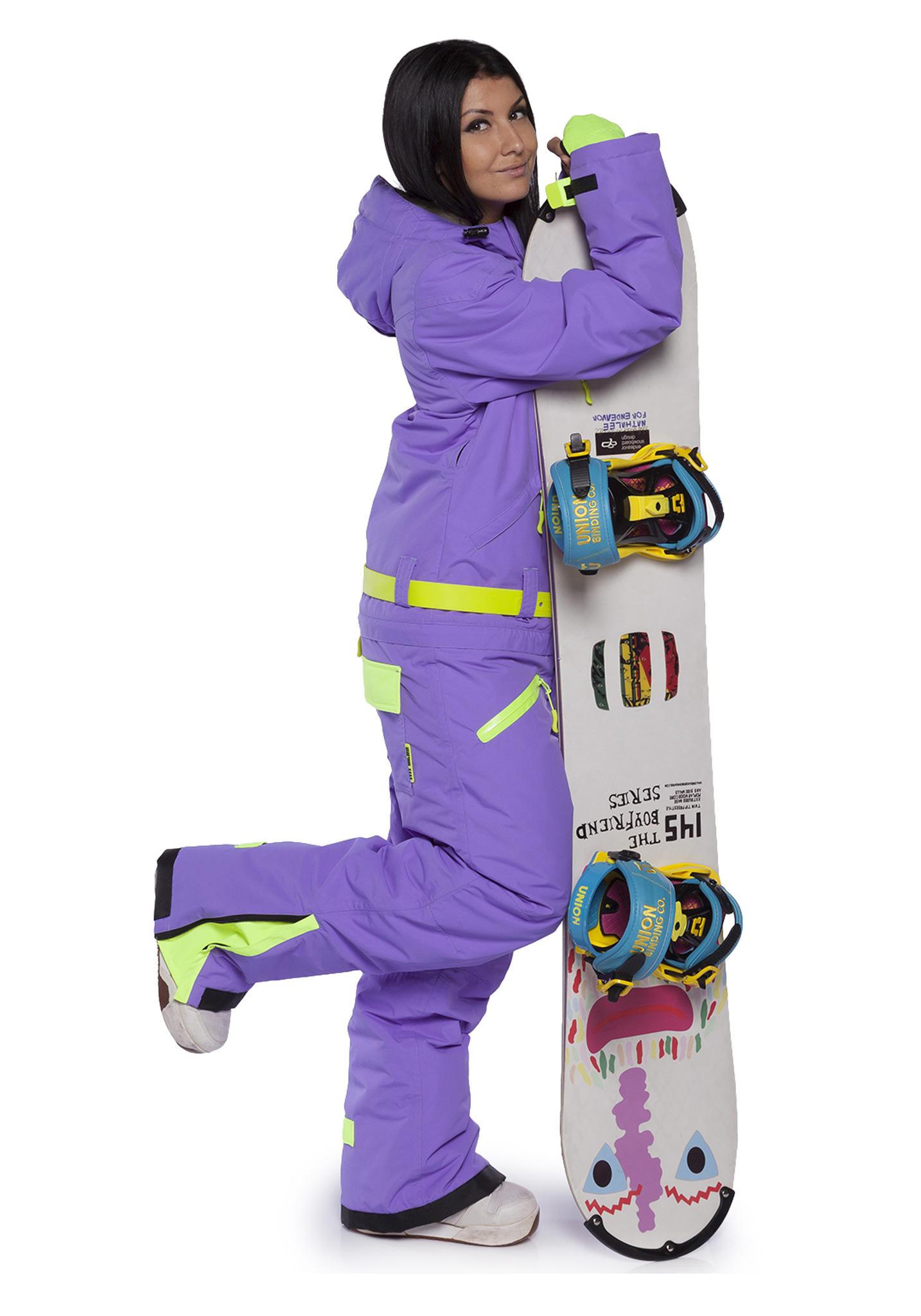 Женский сноубордический комбинезон Cool Zone Fox 3430 фиолетовый | Интернет-магазин Five-sport.ru