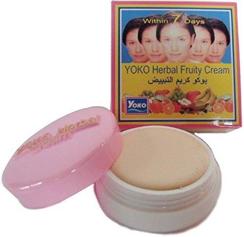 Yoko Отбеливающий фруктовый крем Herbal Fruity Cream, 4 г