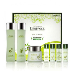 Deoproce Premium Greentea Total Solution 3 Set - Набор для лица уходовый