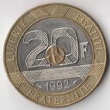 K6233, 1992, Франция, 20 франков Замок Мон-Сен-Мишель