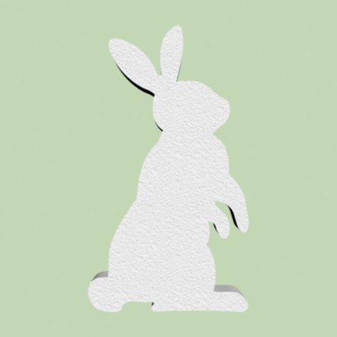 Заяц из пенопласта, набор 2 штуки