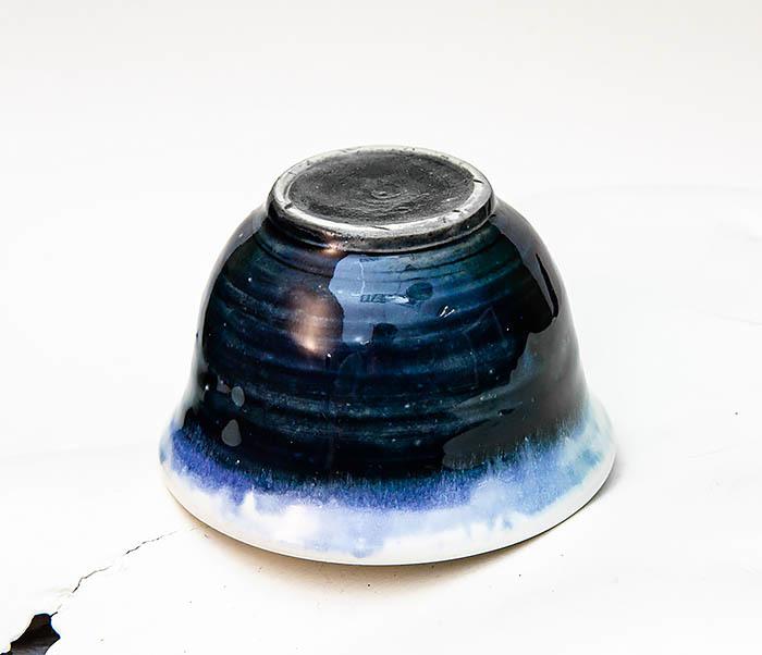 CUP114 Пиала ручной работы с глазурью синего цвета фото 03