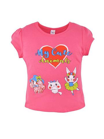 D002-30 футболка для девочек, розовая