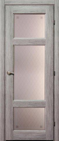 Дверь Краснодеревщик ДО 6342 с/о Пико, цвет дуб пепельный, остекленная