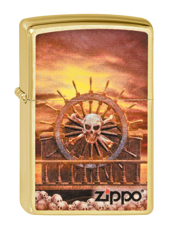 Зажигалка Zippo №204B Skull & Wheel