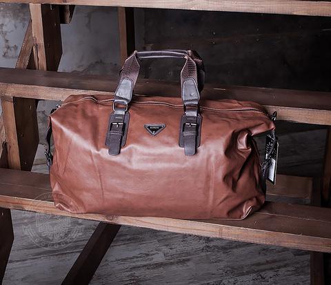 BAG407-2 Мужская сумкая из искусственной кожи с ремнем на плечо