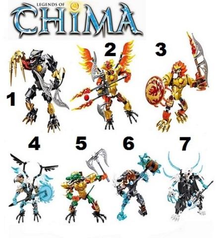 Minifigures Legends of Chima Blocks Building Series 03