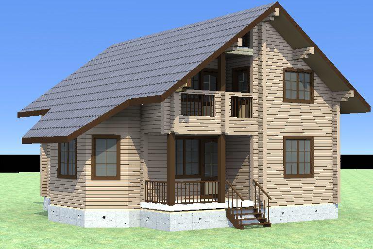 """Строительство домов из бруса и бревна Дом из бруса """"МД-Б-170"""" 170 кв.м. 1_17.jpg"""