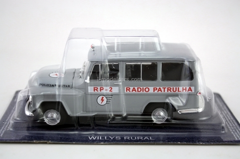 Willys Rural radio Patrulha Brazil 1:43 DeAgostini World's Police Car #60