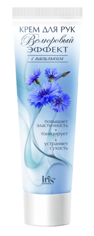 Iris Велюровый эффект Крем для рук с васильком 100мл