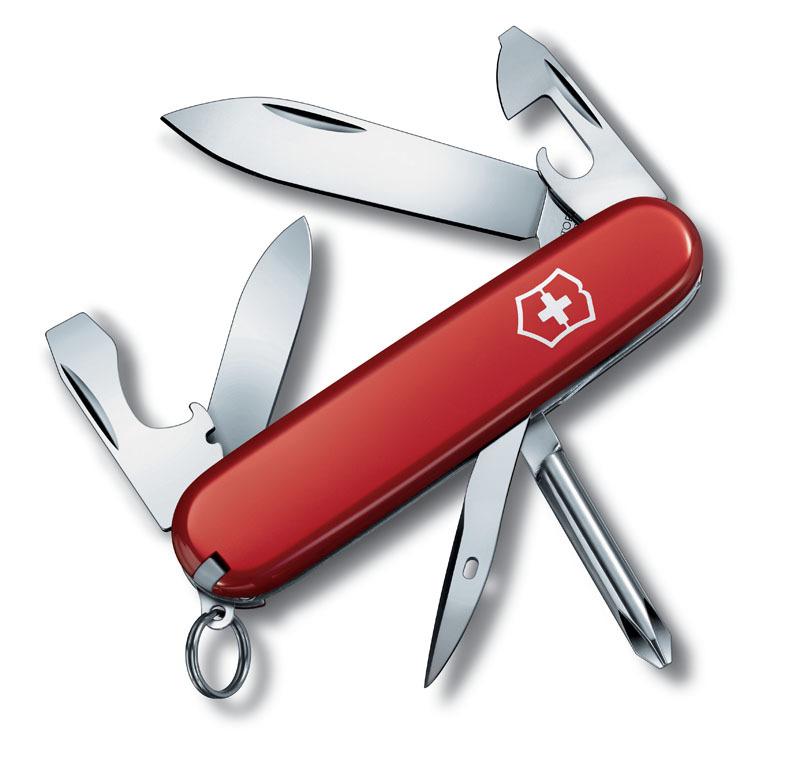 Нож перочинный VICTORINOX Tinker Small, 84 мм, 12 функций, красный VC-0.4603